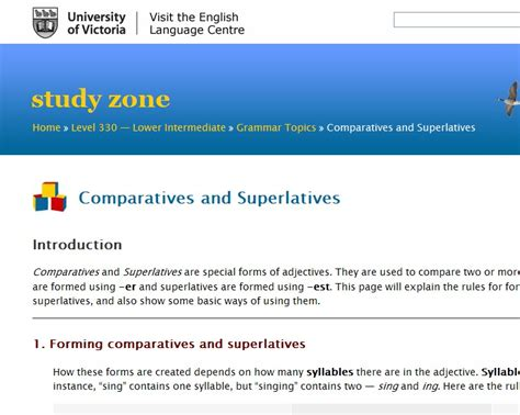 Comparatives And Superlatives English Guide Org