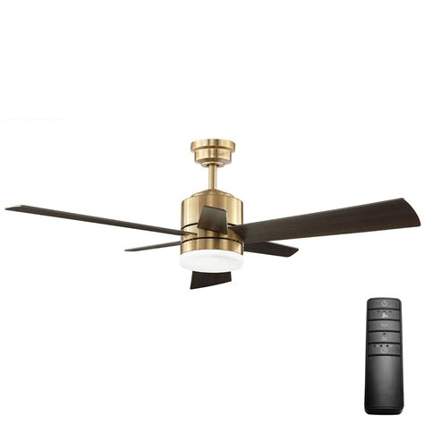 black and gold ceiling fan home decorators collection hexton 52 in led indoor