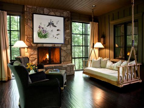 cabin style home decor rustic retreats luxurious style hgtv
