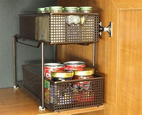 Cabinet Shelf Basket by Bronze Storage Basket Organizer Sliding Drawer Kitchen