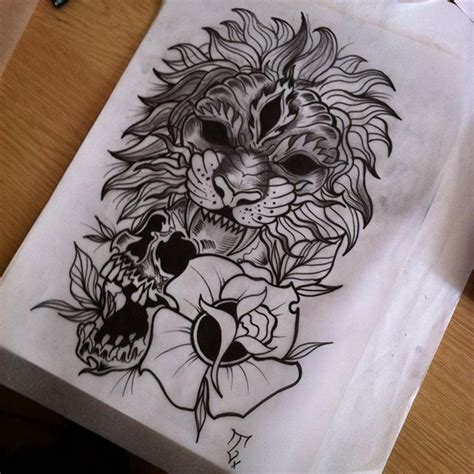 lion skull tattoo 35 best and flower designs images on