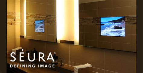 tv in bathroom mirror cost mirror tv and vanishing tv by seura find seura tv prices