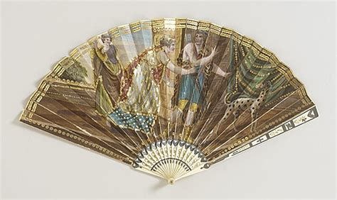 woman s folding fan with box circa 1810 lacma collections regency fans