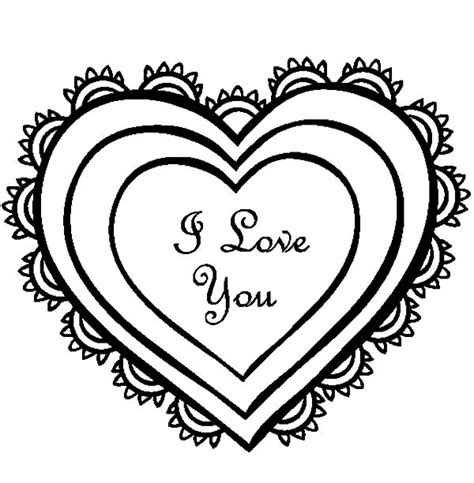 i love you heart coloring page i love you drawing coloring pages