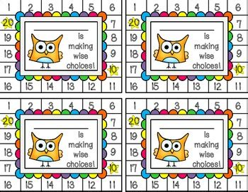 Free Printable Behavior Punch Card Template by Behavior Punch Cards Owls By Libby Dryfuse Teachers