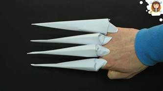 How To Make Paper Fingers - how to make origami claws paper claws