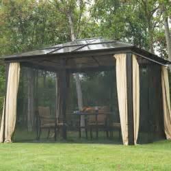 12x10 Gazebo Netting by 12 X10 Outdoor Hardtop Roof Gazebo Aluminum Metal Patio