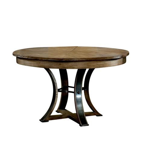 transitional gray oak jupe table with self storing