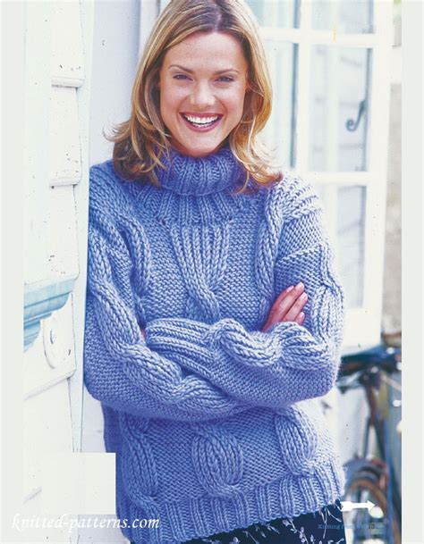 knitting patterns english woman s weekly cable sweater knitting pattern free