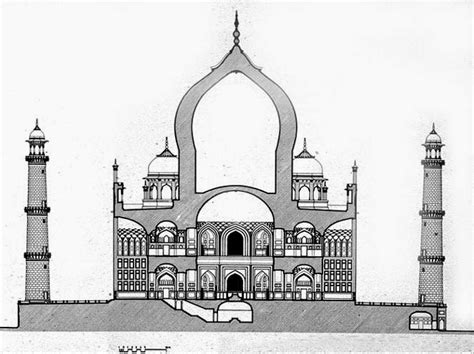 taj mahal floor plan architecture as aesthetics the taj mahal architecture