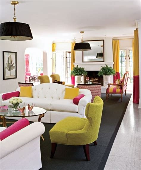 white pink living room white yellow pink living interiors by color