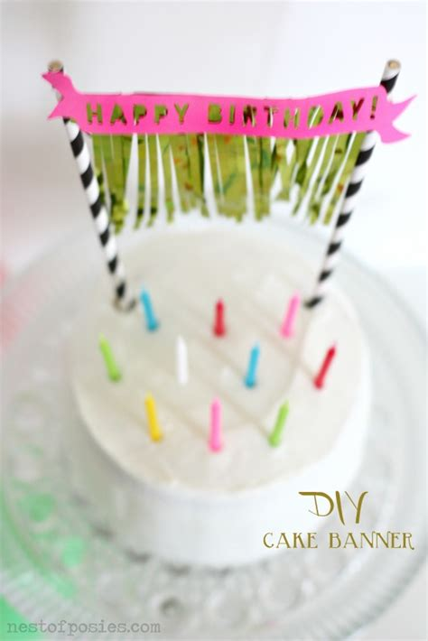 Diy Birthday Cake Trolley birthday cake banner with fringe a free silhouette nest of posies