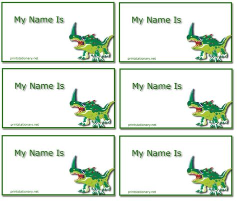 nameplate template free printstationary net free printable name plates