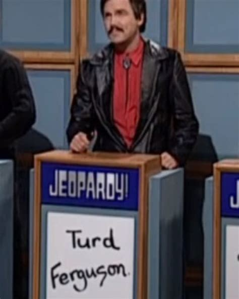 snl celebrity jeopardy below me a jeopardy contestant made alex trebek say quot turd ferguson