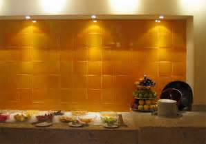 mexicantiles com backsplash with yellow mexican tile