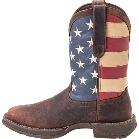 american flag boots rebel by durango s flag western