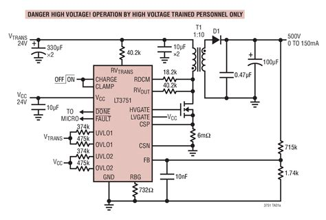 how to charge a high voltage capacitor with low voltage lt3751 high voltage capacitor charger controller with regulation linear technology