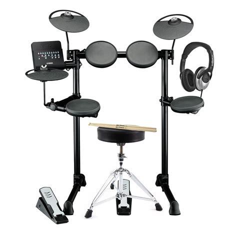 yamaha dtx400k electronic drum kit with headphones stool
