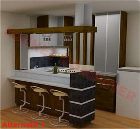 Kursi Mini Bar Dapur perancangan interior desain dapur mini bar