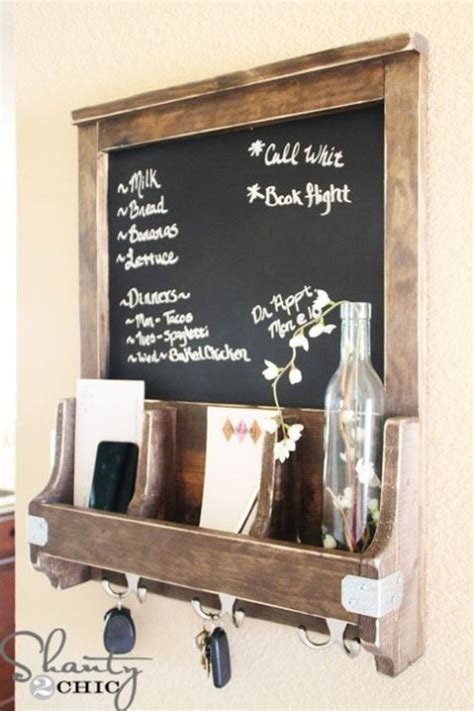 diy chalkboard message center chalkboard decor ideas for your kitchen comfydwelling