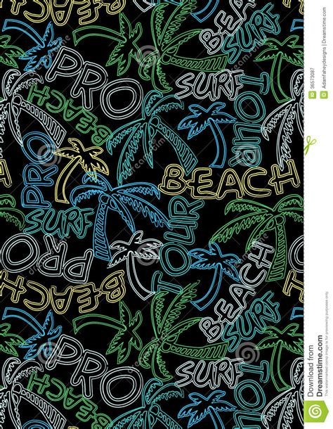 repeat pattern font beach tour surf pro text repeat pattern royalty free stock