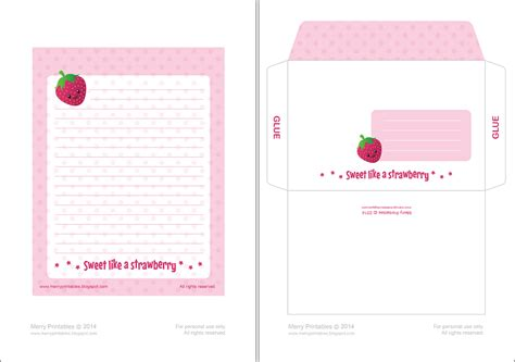 Printable Paper Envelopes | merryprintables printable writing papers envelopes
