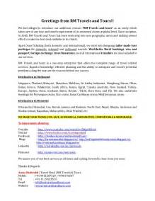 Introducing Broker Agreement Template Introductory Letter Rm Travels And Tours