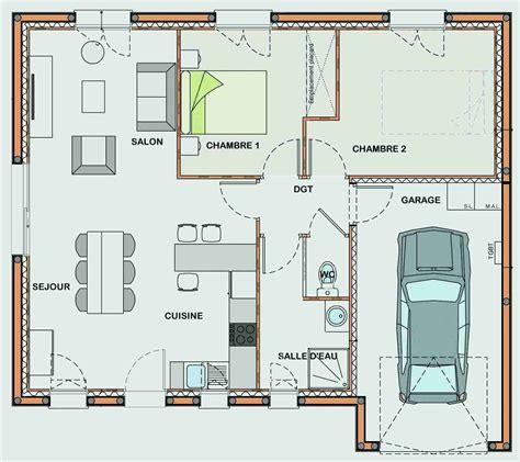 Plan Maison 80m2 Plein Pied 3840 by Plan Maison Plain Pied 80 M2 Cosmeticuprise