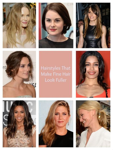 hairstyles for thin hair to look fuller hairstyles that make fine hair look fuller