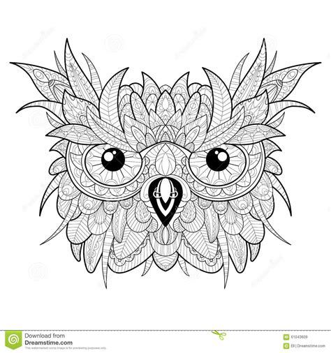 owl head coloring page free coloring pages of patterned owl