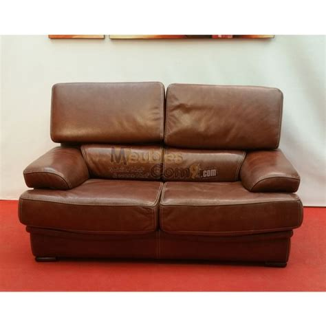 canape contemporain canap 233 contemporain cuir marron 2 places t 234 ti 232 res
