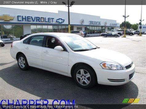 2007 impala ls white 2007 chevrolet impala ls gray interior