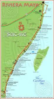 Riviera Maya Mexico Map by Cancun