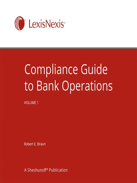 compliance bank compliance guide to bank operations nita