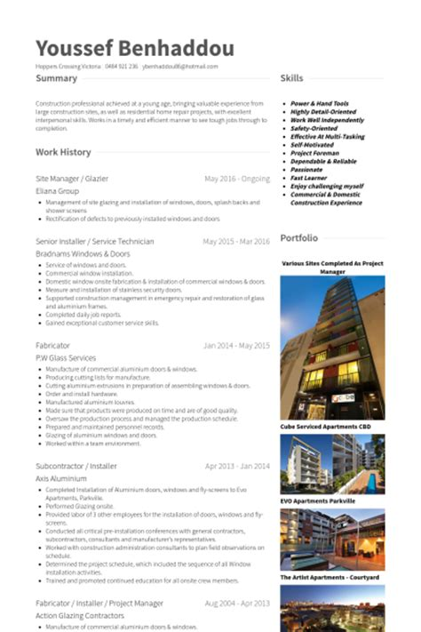 Windows And Door Installer Cover Letter by Glass Technician Resume Sle