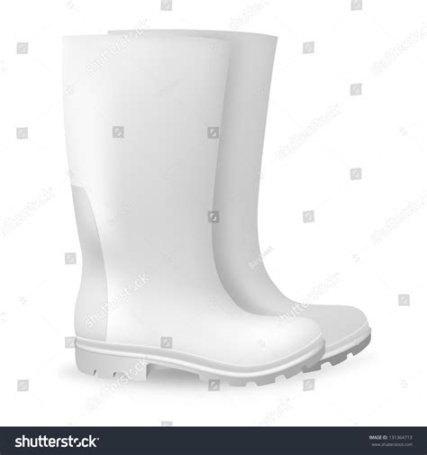 rubber boot template white blank safety rubber boots template stock