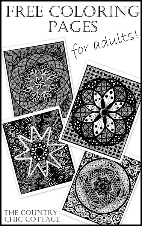coloring pages  adults  country chic cottage