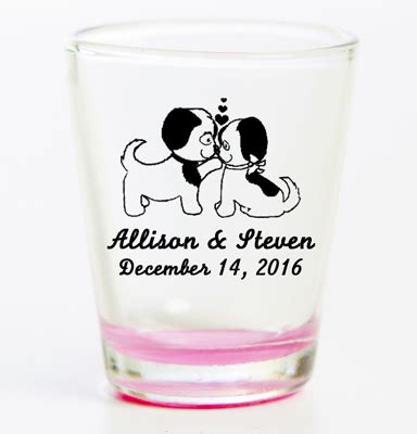 personalized coloured flared shot glass | print canada store