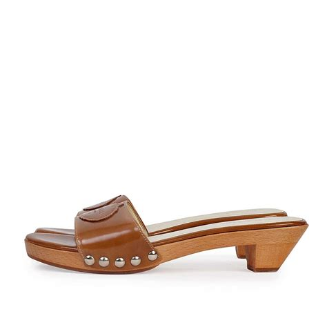 wooden sandals prada wooden slide sandals s 37 4 luxity