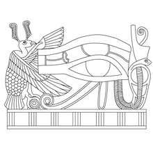eye of horus coloring page egyptian hieroglyphs coloring pages hellokids com
