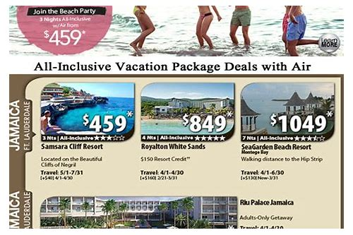 deals on all inclusive vacations to mexico