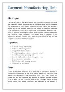 Introduction Letter Of Garment Company Project For Stitching Unit