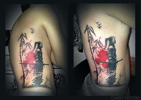 silhouette tattoo samurai bamboo silhouette samurai ideas