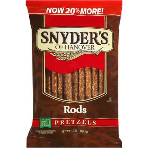 pretzel rods snyder s of hanover pretzel rods 12 oz walmart