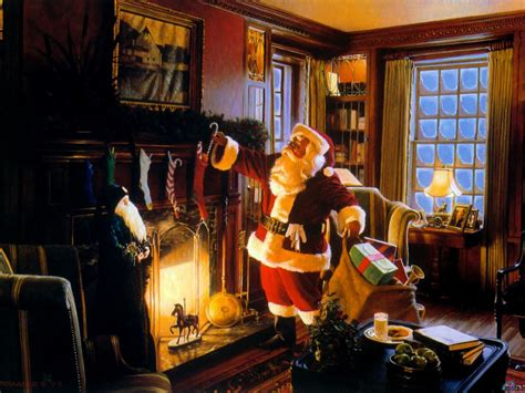 wallpaper gift new year santa claus