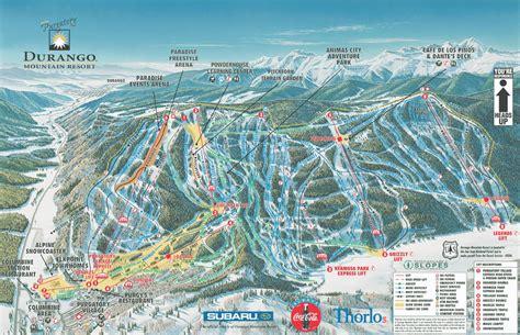 map of colorado ski mountains durango mountain resort colorado ski areas