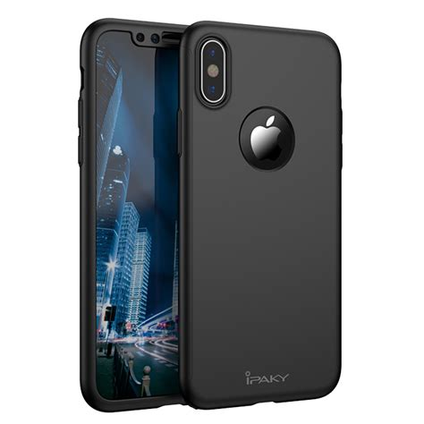 Iphone 5 Ipaky 360 Casing Cover Original ipaky 360 protection front and back screen protector iphone x black black