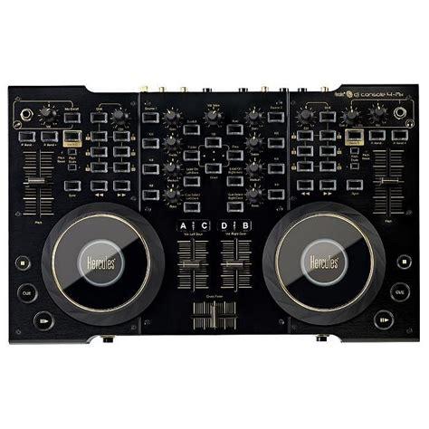 dj console 4 mx black hercules hercules dj console 4 mx black controller with