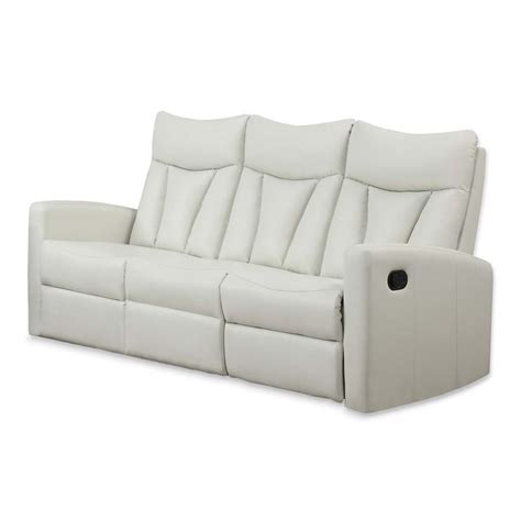 ivory leather recliner leather reclining sofa in ivory i87iv 3