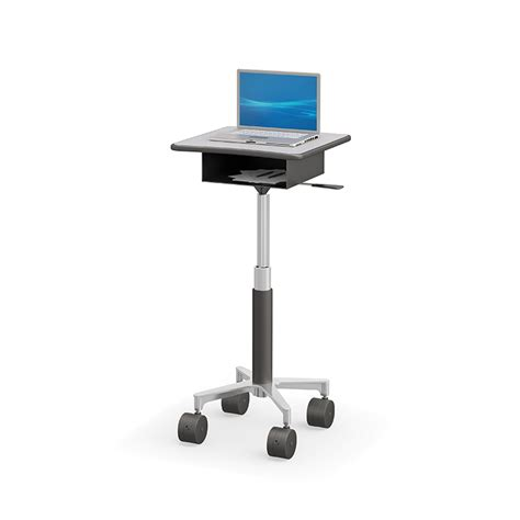 best pole best pole mounted laptop cart with storage compartment